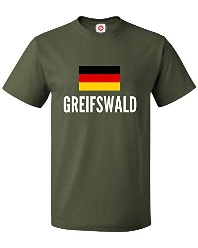 T-shirt Greifswald city Green