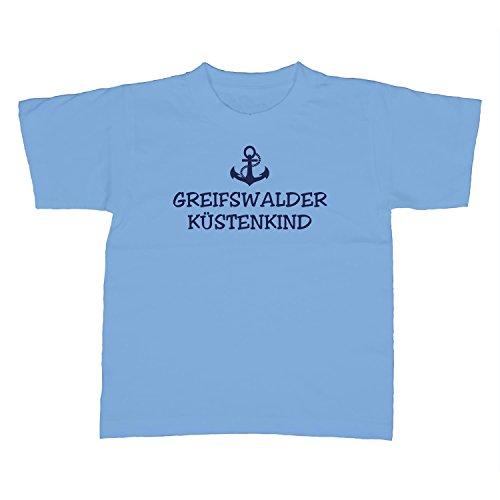 Kinder T-Shirt - Greifswalder Küstenkind - Anker Greifswald Schiffsanker Küste Maritim