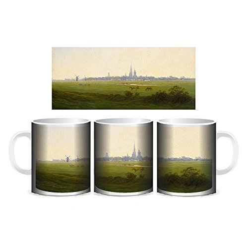 Creepyshirt - FRIEDRICH 013 MEADOWS NEAR GREIFSWALD ART MUG