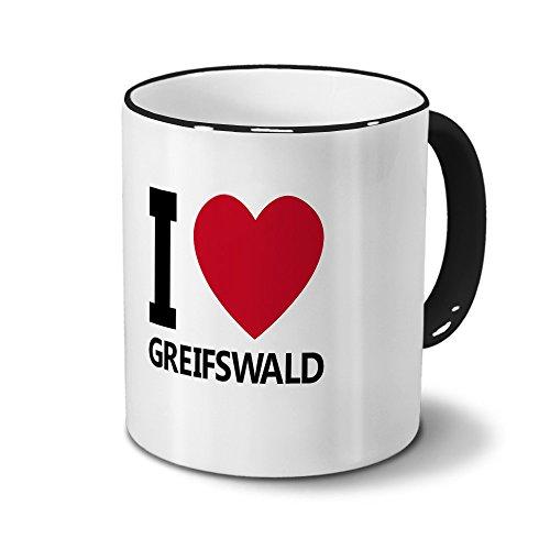 Städtetasse Greifswald - Design I Love Greifswald
