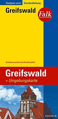 Falk Stadtplan Extra Standardfaltung Greifswald