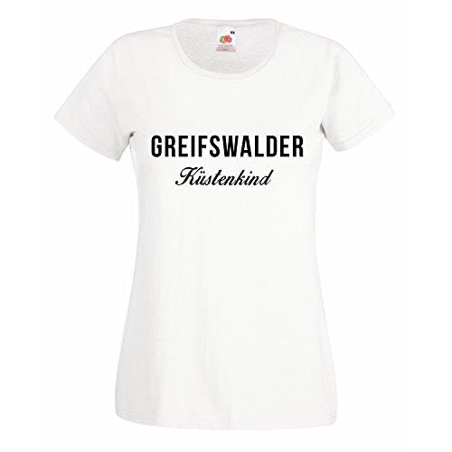 Damen T-Shirt Küstenkind Greifswald Deutschland Küste Meer Sand Strand